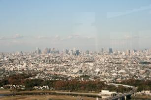 Blick von der Sonnenterasse auf Shibuya