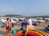 summer season at the beach