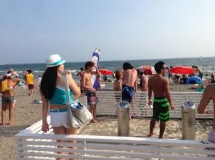 smoking area at the beach