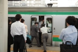 crowded trains tokyo