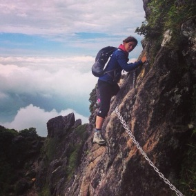 Climbing Mt. Yufu