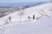 Hiking up Asahidake